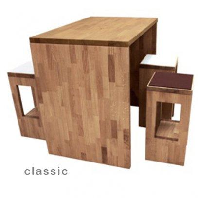 hochtisch classic in eiche massiv ge lt. Black Bedroom Furniture Sets. Home Design Ideas