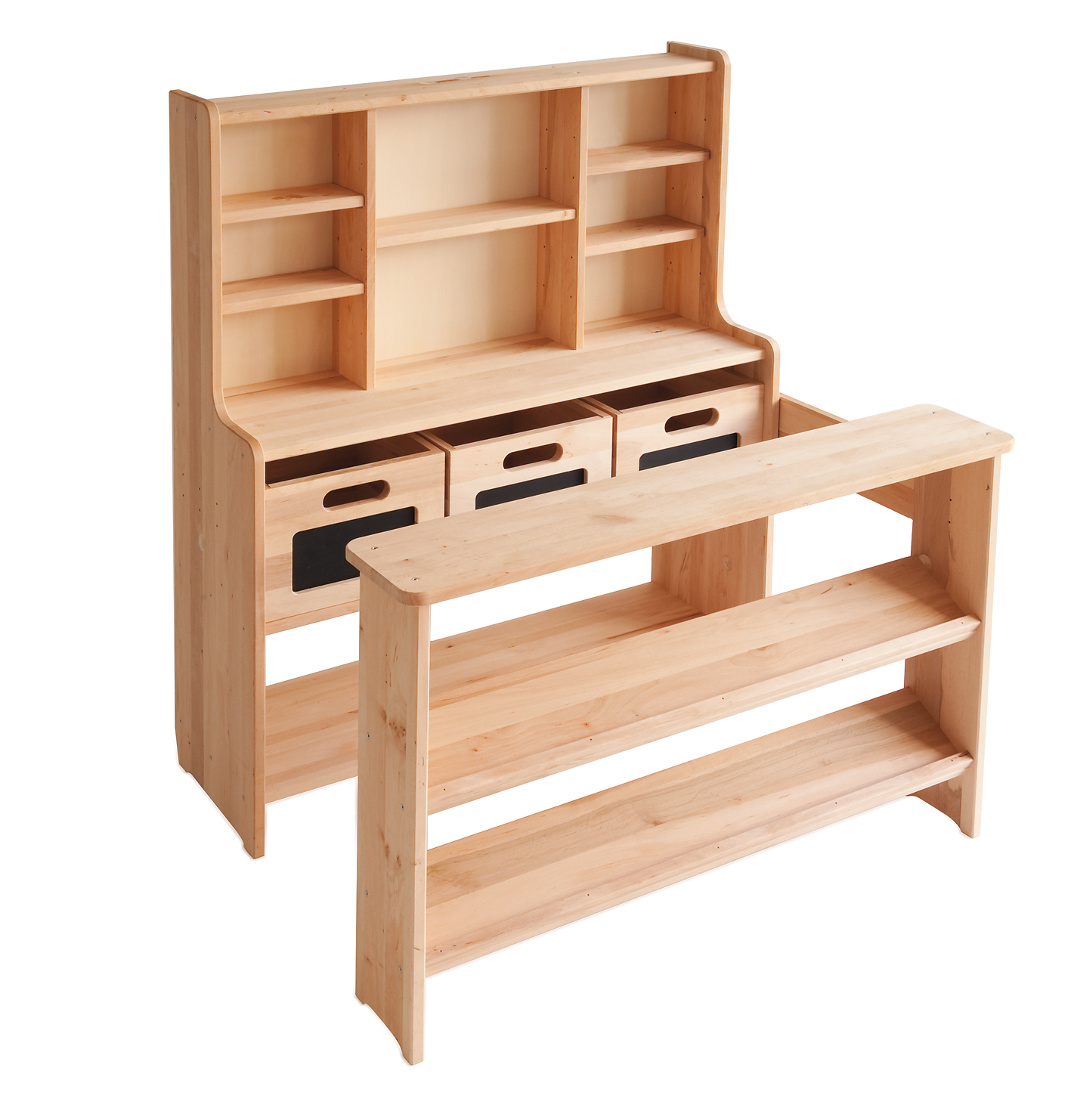 hochwertiger kaufmannsladen kaufladen f r kinder aus holz. Black Bedroom Furniture Sets. Home Design Ideas