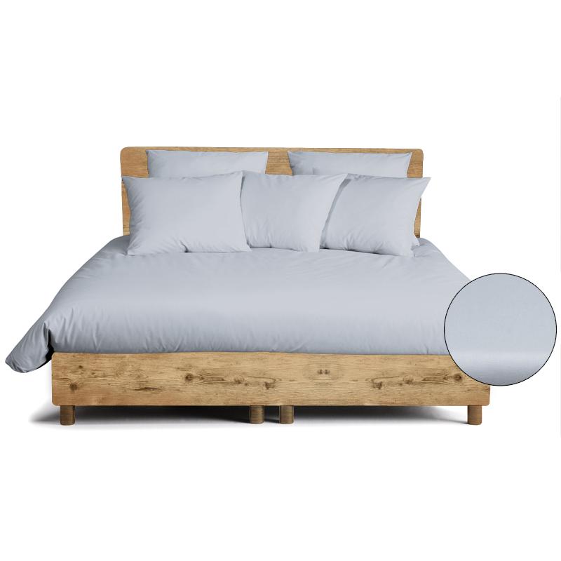 bettw sche organic blaugrau 100 bio cotton perkal handmade in germany. Black Bedroom Furniture Sets. Home Design Ideas