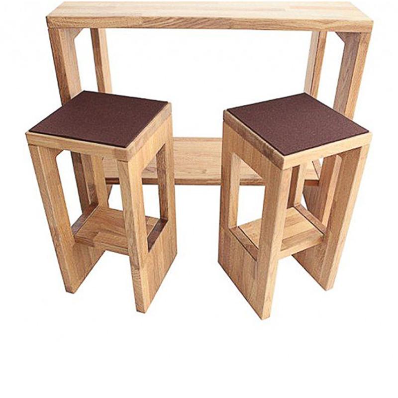 hochtisch trend in eiche massiv ge lt online kaufen. Black Bedroom Furniture Sets. Home Design Ideas
